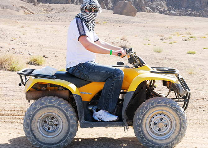 From Hurghada: 3-Hour Desert Safari by Quad Bike